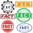 Stock Vector: FACT stamps set