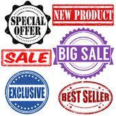 Zestaw sprzedaży znaczków — Wektor stockowy