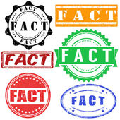 FACT stamps set — Stock Vector