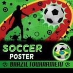 Soccer poster design — Stock Vector