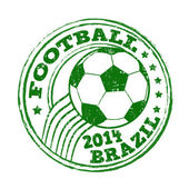 Football stamp — Stock Vector