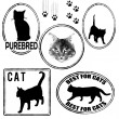 Set of cats stamps — Stock Vector #40111827