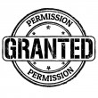 Stock Vector: Permission granted stamp