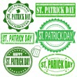 Saint Patrick Day stamps set — Stock Vector