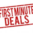 First minute deals stamp — Stockvector #40258829