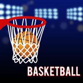 Basketbol çember ve topu — Stok Vektör