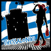 Thessaloniki poster — Stock Vector