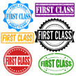 First class stamp set — Stock Vector