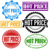 Hot price stamp set — Stock Vector
