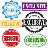 Exclusive stamp set — Stock Vector