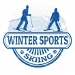 Winter sports skiing stamp — Stock Vector #40501529