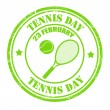 Tennis Day stamp — Stock Vector