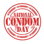 National Condom Day stamp — Stock Vector