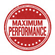 Stock Vector: Maximum performance stamp