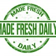 Made fresh daily stamp — Stock Vector