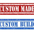 Stock Vector: Custom made and custom build stamps