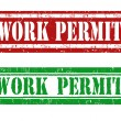 Stock Vector: Work permit stamp