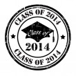 Class of 2014 stamp — Stock Vector #40759763