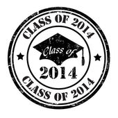 Class of 2014 stamp — Stock Vector