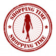 Stock Vector: Shopping time stamp