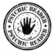 Stock Vector: Psychic reader stamp