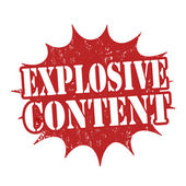 Explosive content stamp — Stock Vector