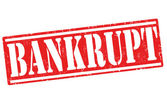 Bankrupt stamp — Stock Vector