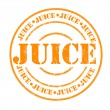 Stock Vector: Juice stamp