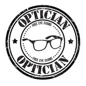 Optician stamp — Stock Vector