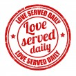 Stock Vector: Love served daily stamp