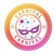 Stock Vector: Carnival stamp