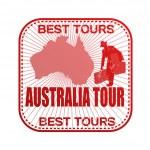 Australia tour stamp — Stock Vector