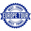Europe tour stamp — Stock Vector