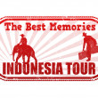 Indonesia tour stamp — Stock Vector