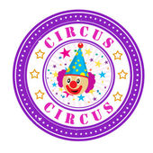 Circus stamp — Stock Vector