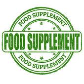 Food supplement stamp — Stock Vector