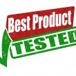 Stock Vector: Best product, tested stamp