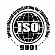 Stock Vector: ISO 9001 stamp
