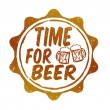 Stock Vector: Time for beer stamp