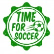 Stock Vector: Time for soccer stamp
