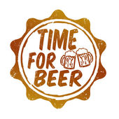 Time for beer stamp — Stock Vector