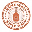 Maple syrup stamp — Stock Vector