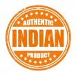 Authentic indian product stamp — Stock Vector