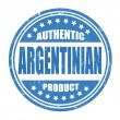 Stock Vector: Authentic argentiniproduct stamp