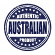 Stock Vector: Authentic australiproduct stamp