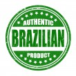 Stock Vector: Authentic braziliproduct stamp