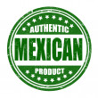 Stock Vector: Authentic mexicproduct stamp