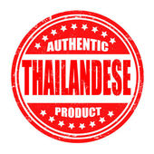Authentic thailandese product stamp — Stock Vector