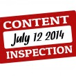 Stock Vector: Content inspection stamp