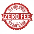 Stock Vector: Zero fee to bank account